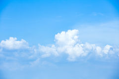White cloud in clear sky Stock Image