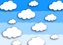 White cloud on colorful blue background Stock Photos