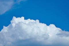 White cloud cover in blue sky Stock Image