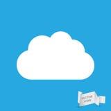 White Cloud Icon Royalty Free Stock Photo