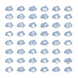 White cloud icons Stock Photography