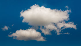 White cloud isolated over black Stock Images