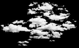 White cloud isolated over black Stock Photography