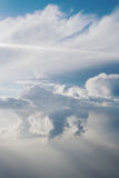 White cloud. Large white cloud seen from an airplane Royalty Free Stock Photography