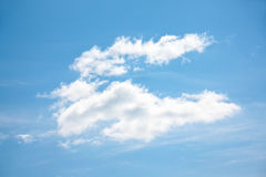 White cloud on light blue clear sky Royalty Free Stock Photos