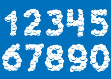 White cloud numbers Stock Photo