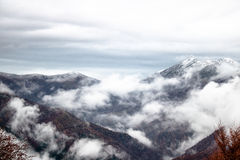 White Cloud over Mountain Royalty Free Stock Photo