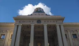 Free White Cloud Over The Court House Stock Photos - 25823833