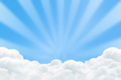 White cloud with rising sun. Abstract background royalty free illustration