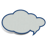White cloud shaped fabric Royalty Free Stock Image