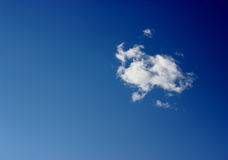 The white cloud in the sky Royalty Free Stock Photo