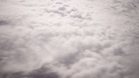 White cloud sky airplane view 4k time lapse from flight stock video