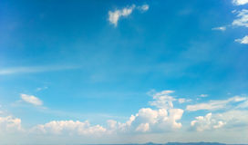 White Cloud in Sky Background Stock Photography