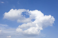 White cloud and sky Royalty Free Stock Images