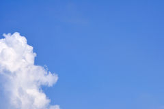 White cloud on sky, sun shine day.  Royalty Free Stock Image