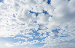 White cloud in the sky in sunny day Stock Photography
