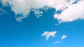 White cloud on top and sky cyan is under Royalty Free Stock Photography