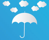 White Cloud with umbrella Stock Images