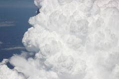 White cloud. Cloud, view from the airplane Stock Photo