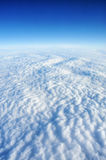 White clouds. Above the Earth (aerial view Royalty Free Stock Photos