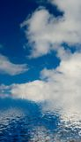 White clouds. In the blue sky stock images
