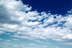 The white clouds. The beautiful white clouds on background blue sky Stock Photos