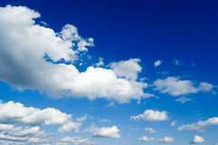 The white clouds. The white clouds on blue sky Stock Photo