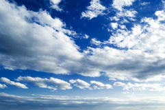 The white clouds. The white clouds on background sky Royalty Free Stock Photos
