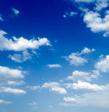White clouds Stock Images