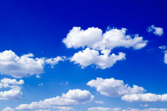 The white clouds Stock Image