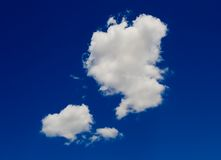 White clouds. Blue sky with white clouds Royalty Free Stock Images