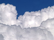 White clouds. On blue sky Royalty Free Stock Photos