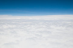 White Clouds From Above. Clouds which are seen from the plane stock photography