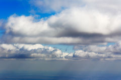 White clouds aerial view natural background Royalty Free Stock Photo