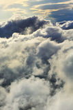 White clouds aerial view natural background Stock Photography