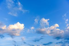 Clouds and heavens. White clouds against the blue sky Stock Photography