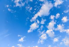 Clouds and heavens. White clouds against the blue sky Royalty Free Stock Images