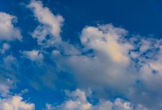 Clouds and heavens. White clouds against the blue sky Royalty Free Stock Photography