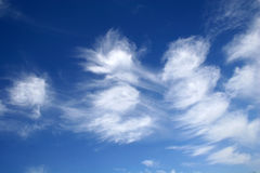 White clouds against blue sky. royalty free stock photo