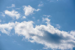White clouds against blue sky. Nice sunny day Royalty Free Stock Photo