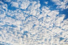 White clouds against the blue sky Royalty Free Stock Image