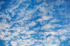 White clouds against the blue sky Royalty Free Stock Photo