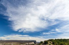 White clouds and spring sky Stock Images
