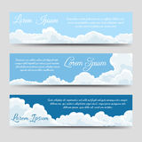 White clouds banners template collection Royalty Free Stock Photos