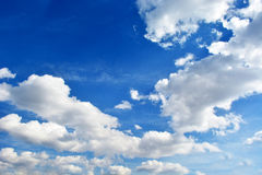 White clouds. In the beautiful blue sky Stock Photo
