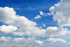 White clouds. In the beautiful blue sky Royalty Free Stock Photos