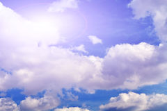 White clouds. In the beautiful blue sky Royalty Free Stock Image