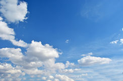 White clouds. In the beautiful blue sky Royalty Free Stock Photography