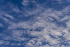 White clouds in the beautiful blue sky Royalty Free Stock Images