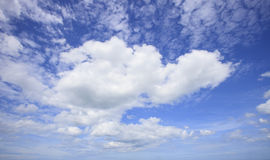 White clouds on beautiful blue sky Royalty Free Stock Photo